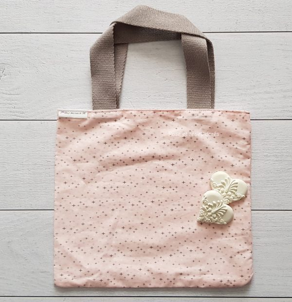 p'tit tote bag pink star