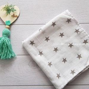 Lange blanc étoiles taupes